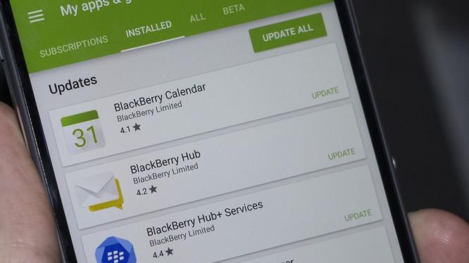 Ứng dụng BlackBerry Hub+ dành cho các thiết bị Android- (Ảnh: CRACKBERRY).