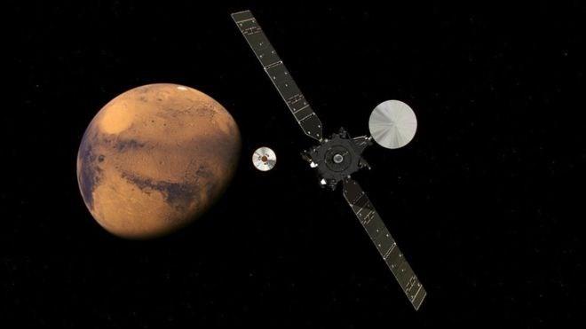 """Schiaparelli đã tách khỏi """"tàu mẹ"""" module TGO- (Nguồn: ESA)."""