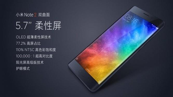 Các thông số của Xiaomi Mi Note 2