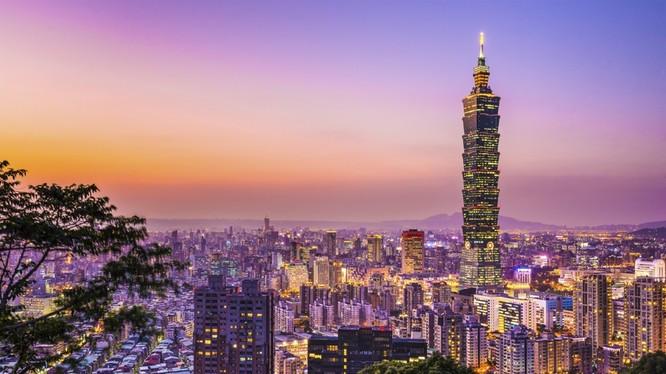 Các tòa nhà văn phòng hiện đại ở Đài Bắc, Đài Loan