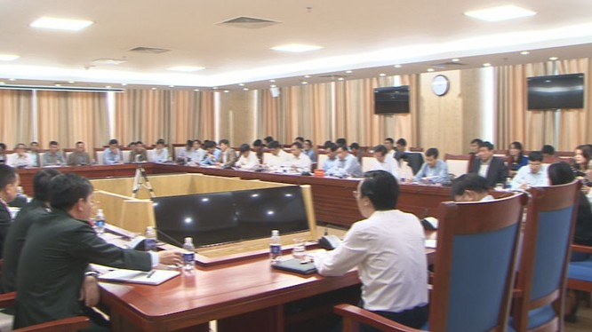 Thanh tra Bộ Kế hoạch đầu tư đã có buổi làm việc với UBND tỉnh Nghệ An- (Ảnh: Truyền hình Nghệ An).