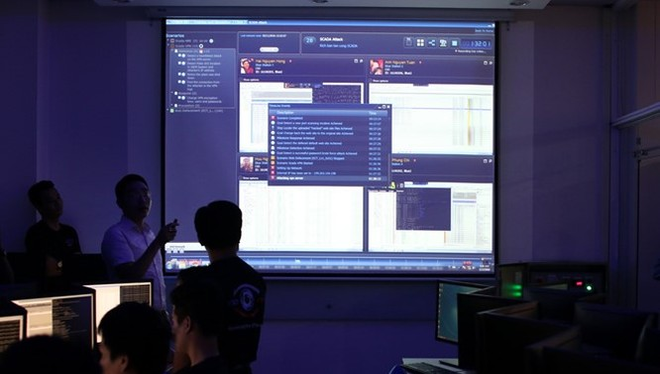 Thao trường ảo giúp nâng cao trình độ cho các học viên an ninh mạng ở Việt Nam. Ảnh: Bùi An.