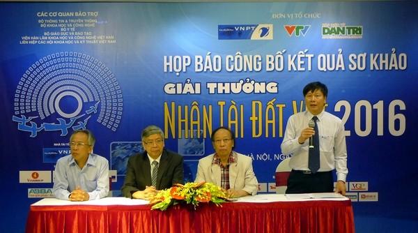 """Giải thưởng Nhân tài Đất Việt năm 2016 với chủ đề """"Vì chất lượng cuộc sống""""."""