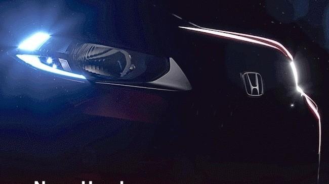 Hình ảnh mới cho thấy mẫu SUV đô thị Honda WR-V được trang bị đèn pha hình thang và dải đèn LED định vị ban ngày hình chữ L.