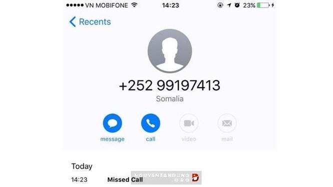 Gần đây, rất nhiều người nhận được các cuộc gọi từ Somali