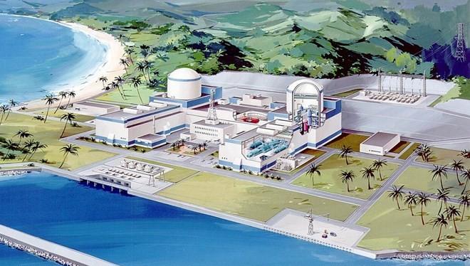 Phác họa mô hình nhà máy điện hạt nhân Ninh Thuận 1. (Nguồn: dienhatnhan.com.vn)
