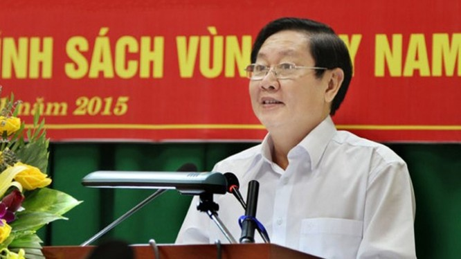 Bộ trưởng Bộ Nội vụ Lê Vĩnh Tâm - (Nguồn Internet)