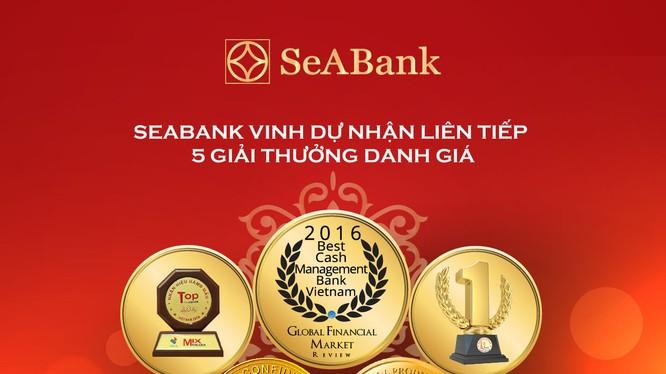 SeABank nhận nhiều giải thưởng trong tháng 11/2016