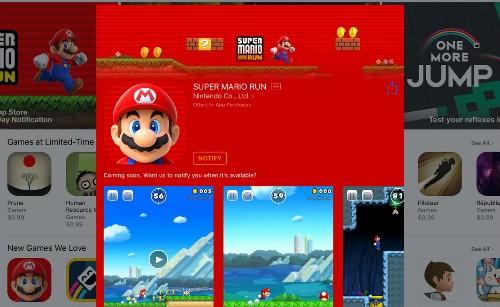 Hàng chục triệu game thủ mobile đang đón chờ Super Mario Run.