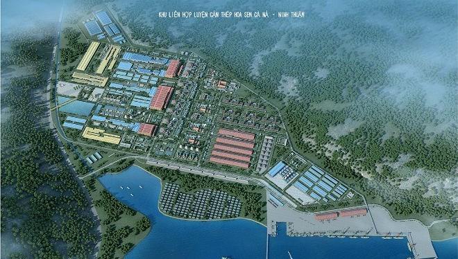 Phối cảnh Khu liên hợp luyện, cán thép Cà Ná - Ninh Thuận
