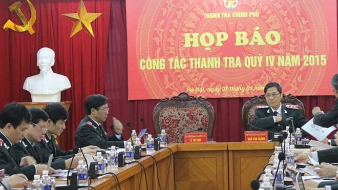 Thanh tra Chính phủ họp báo Quý IV