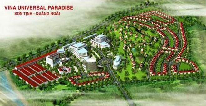 Phối cảnh dự án Thương mại - Dịch vụ Vina Universal Paradise