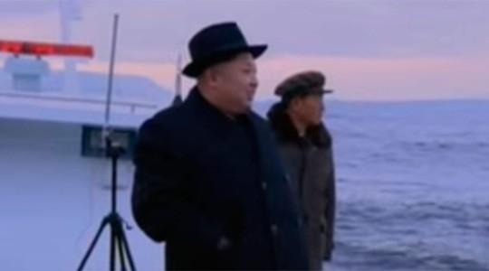 Nhà lãnh đạo Kim Jong-un xuất hiện trong đoạn clip. Ảnh: RT