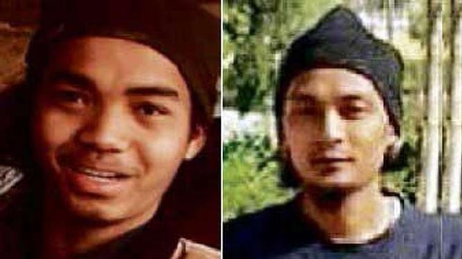 Tên Mohd Amirul Ahmad Rahim (trái) tham gia đánh bom tự sát tại Raqqa, Syria ngày 29/12 và tên Mohamad Syazwan Mohd Salim (phải) đánh bom liều chết tại Tikrit, Iraq ngày 3/1 (Ảnh: Straitstimes)