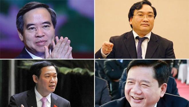 Ông Nguyễn Văn Bình, ông Hoàng Trung Hải, ông Vương Đình Huệ, ông Đinh La Thăng.