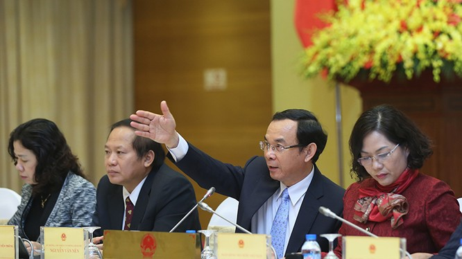 Phó Thống đốc NHNN Nguyễn Thị Hồng (bìa phải) tại buổi Họp báo Chính phủ chiều 29/01 (Ảnh: VGP).