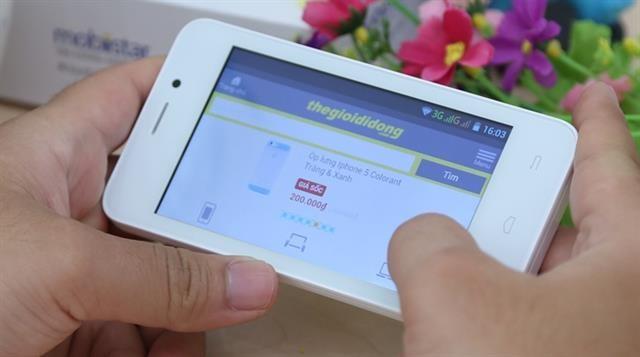 Mobiistar touch bean 402c là một chiếc smartphone rẻ nhất Việt Nam hiện nay khi chỉ có giá 800 nghìn đồng.