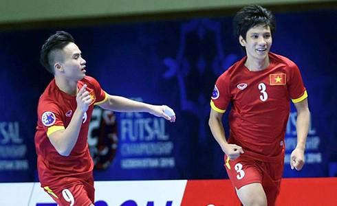 Việt Nam lần đầu tiên đoạt vé dự World Cup futsal. Ảnh: Tú Trần.