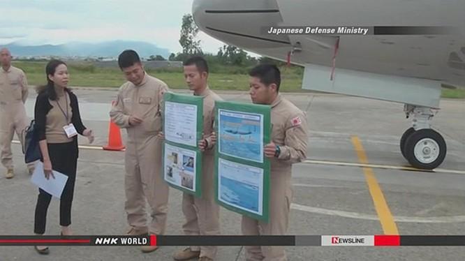 Máy bay P-3C Orion của Lực lượng Phòng vệ biển Nhật Bản thăm Đà Nẵng - Ảnh từ clip đài NHK