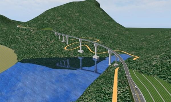 Cầu Móng Sến tại Km118-Km119, sau khi dự án hoàn thành.