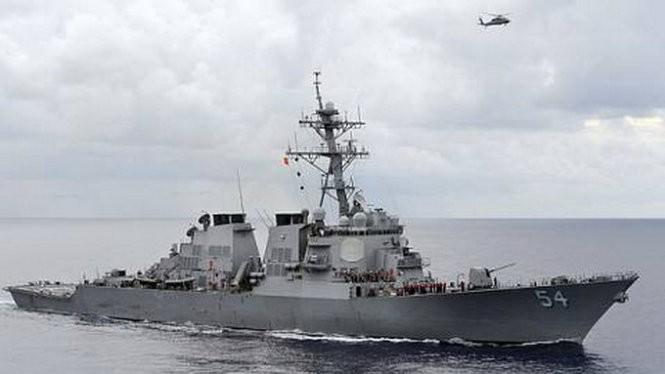 Mỹ đã đưa tàu khu trục đến tuần tra ở đảo Tri Tôn thuộc quần đảo Hoàng Sa của Viêt Nam - Ảnh: US Navy
