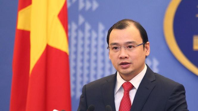 Người phát ngôn Bộ Ngoại giao Việt Nam Lê Hải Bình - Ảnh: Nguyễn Khánh