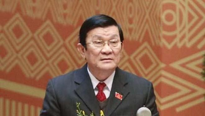 Chủ tịch nước hiện tại là đồng chí Trương Tấn Sang.