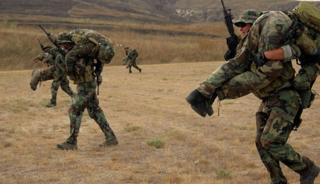 Lính đặc nhiệm Mỹ tập luyện.