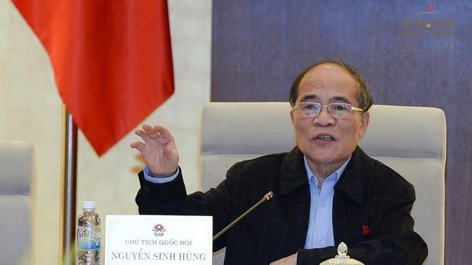 Chủ tịch Quốc hội Nguyễn Sinh Hùng.