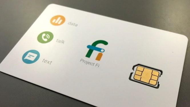 Thẻ SIM cung cấp dịch vụ mạng di động gồm thoại (call), nhắn tin (text) và dữ liệu (data) của Project Fi - Ảnh: VentureBeat
