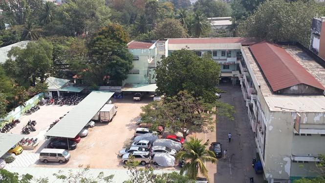 Dự án VFC trở thành một bãi giữ xe rộng lớn - Ảnh: N.T.Tâm
