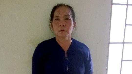 Bà Đèo tại công an quận 7 - Ảnh: Công an cung cấp
