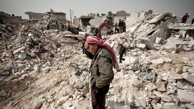 Phân chia chiến trường Syria trước và sau khi Nga can thiệp