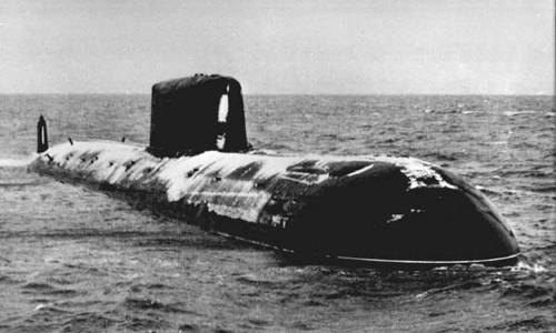 Tàu ngầm Komsomolets K-278 của hải quân Liên Xô. Ảnh: FAS