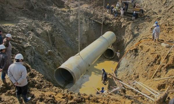 Nhà thầu Trung Quốc trúng thầu dự án đường ống nước sông Đà mới