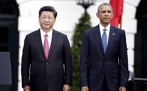 Chủ tịch Trung Quốc Tập Cận Bình (trái) và Tổng thống Mỹ Barack Obama trong chuyến thăm Mỹ vào tháng 9/2015 của ông Tập - Ảnh: Reuters.