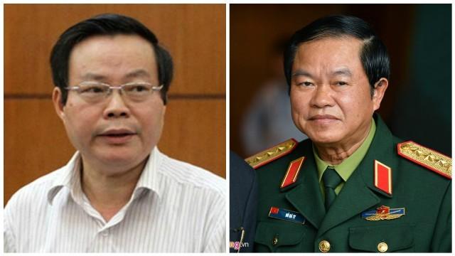 Hai ứng viên cho chức vụ Phó chủ tịch Quốc hội là ông Phùng Quốc Hiển (trái) và ông Đỗ Bá Tỵ (phải).