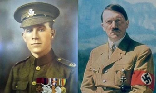 Binh nhì anh Henry Tandey và trùm phát xít Adolf Hiler. Ảnh: BBC