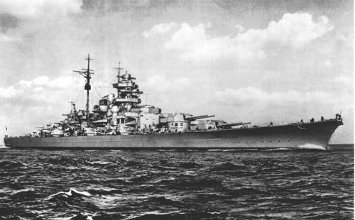 Thiết giáp hạm Bismarck của phát xít Đức. Ảnh: Greatmilitarybattles