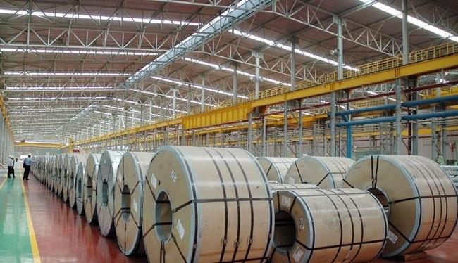Một số cuộn thép không gỉ được sản xuất tại nhà máy Posco VST tại khu công nghiệp Nhơn Trạch 1, tỉnh Đồng Nai. Ảnh minh hoạ: Đình Dũng