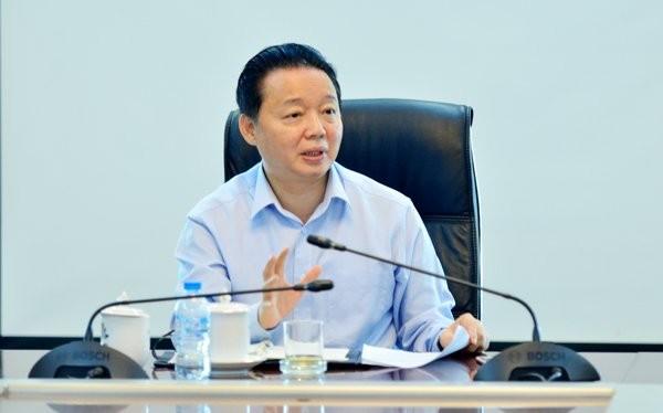 Bộ trưởng Trần Hồng Hà chỉ đạo kiên quyết xử lý nghiêm vi phạm của tất cả các tổ chức, cá nhân nếu để xảy ra ô nhiễm môi trường theo quy định của pháp luật. Ảnh: www.monre.gov.vn