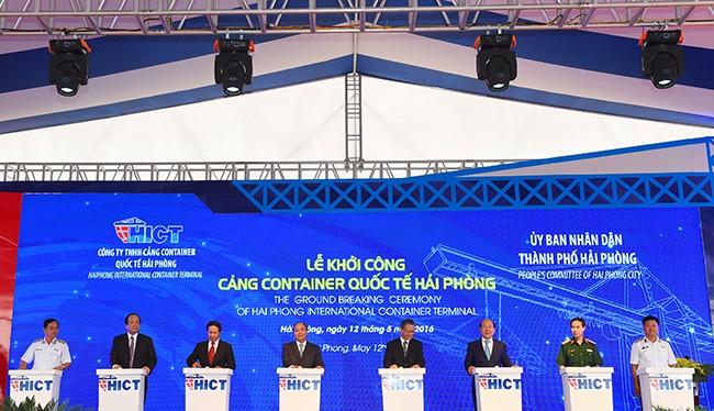 Khởi công Cảng container quốc tế Hải Phòng