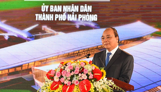 Thủ tướng Chính phủ Nguyễn Xuân Phúc phát biểu tại buổi lễ.