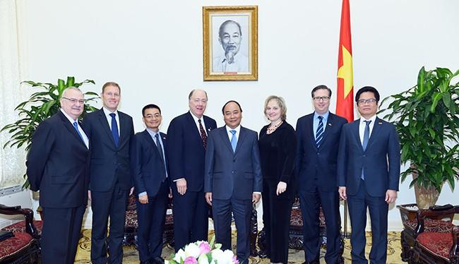 Thủ tướng tiếp đoàn Hội đồng quản trị Hội đồng kinh doanh Mỹ - ASEAN