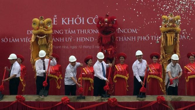 Lễ khởi công xây dựng trung tâm hành chính mới của TP Thanh Hóa - Ảnh: Hà Đồng/Tuổi trẻ