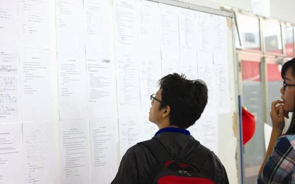 Kinh tế khó khăn, nhiều doanh nghiệp phải ngưng hoạt động, kéo theo tỷ lệ thất nghiệp tăng. Trong ảnh: Người lao động tại một ngày hội việc làm. Ảnh: Thành Hoa