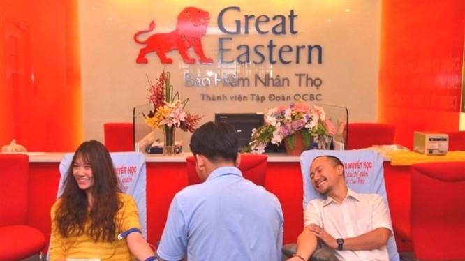 Bảo hiểm nhân thọ Great Eastern Việt Nam sẽ được bán cho FWD. Trong ảnh là một chương trình hiến máu của nhân viên bảo hiểm nhân thọ Great Eastern Việt Nam trước đây. Ảnh minh họa: website Great Eastern Việt Nam