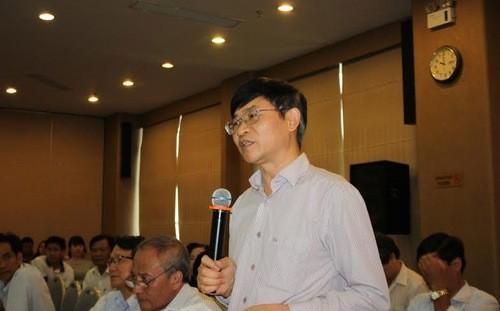 Luật sư Trương Thanh Đức tại hội thảo - Ảnh: CTV.