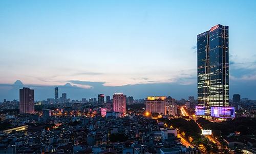 Lotte Center hiện là tòa nhà cao thứ hai tại Hà Nội. Ảnh: Lotte