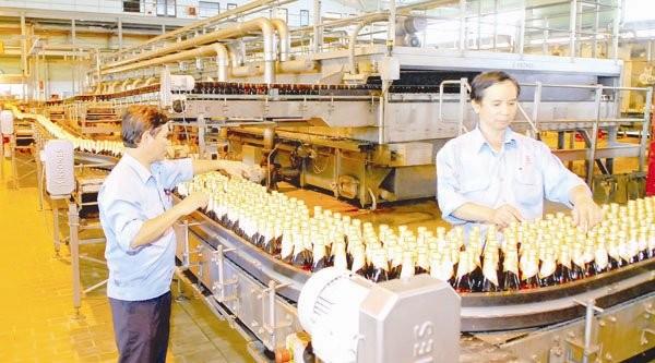 Một dây chuyền sản xuất của Sabeco. Ảnh: laodong.com.vn